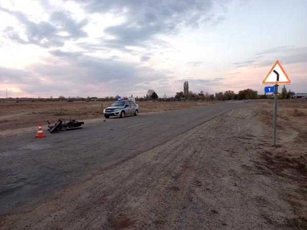 15-летний житель астраханского села катался на мотоцикле деда и попал в больницу