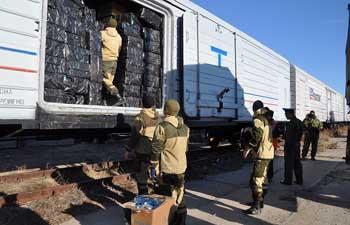 Пограничники выявили в Астраханской области три вагона контрафактных сигарет
