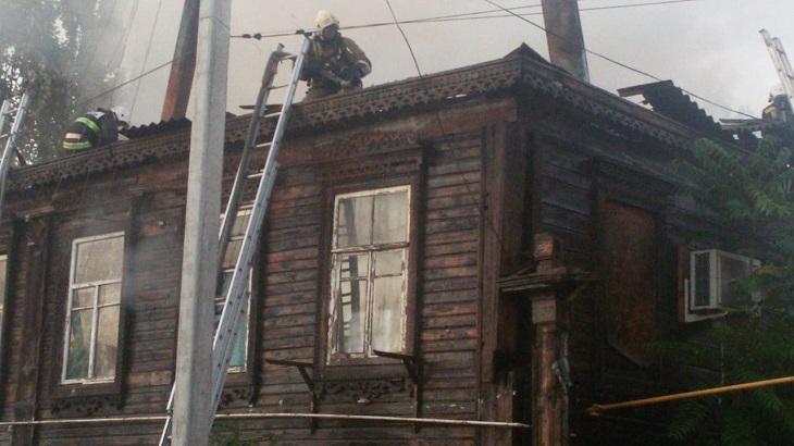 В Астрахани опять горел старый жилой фонд