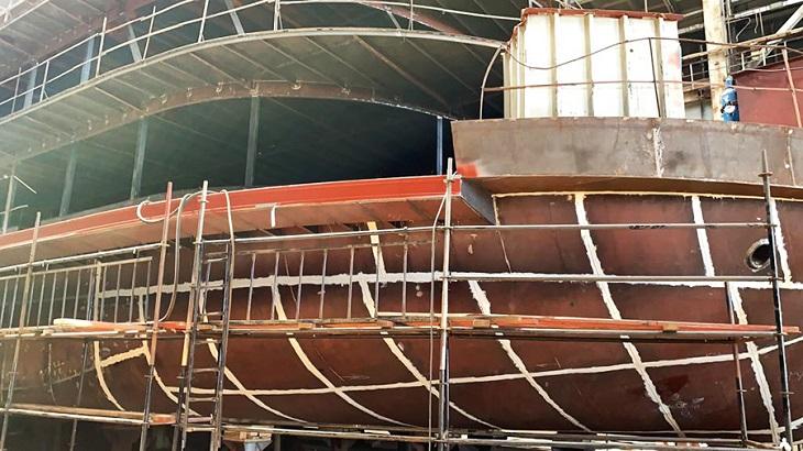 Подробности строительства в Астрахани круизного теплохода