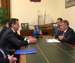 В Астрахань для участия в федеральном Сабантуе прибыл президент Татарстана Рустам Минниханов