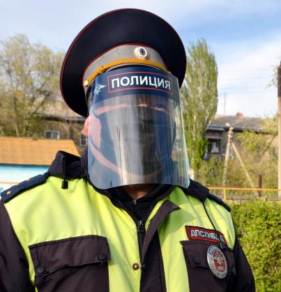 У астраханской полиции появилась противовирусная амуниция