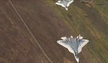 Уникальные кадры маневров Су-57 над Астраханью