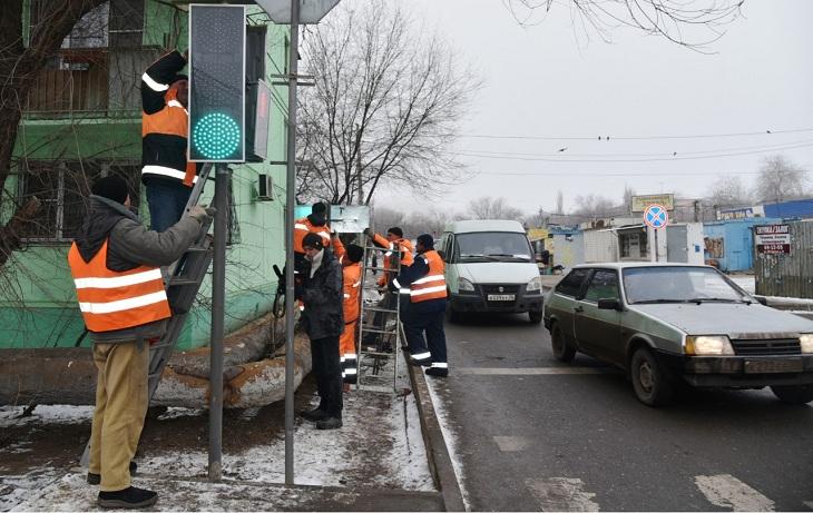 За 2019 год в Астрахани отремонтировано полтысячи светофоров