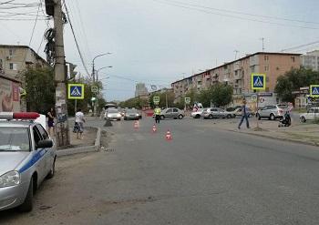 На дороге в Астрахани пострадал шестиклассник