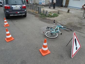 В Астрахани пострадал велосипедист