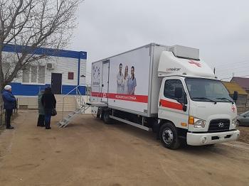 Новый мобильный маммограф приступил к работе в селах Астраханской области