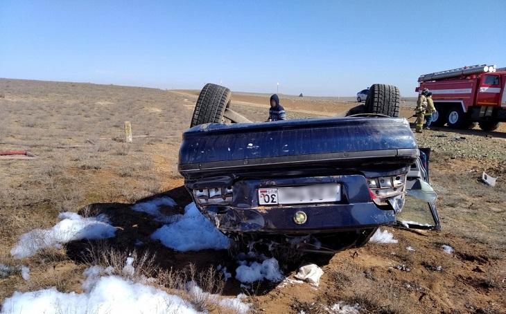 В Лиманском районе перевернулся автомобиль