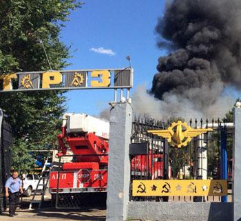 В Астрахани произошёл пожар на тепловозоремонтном заводе