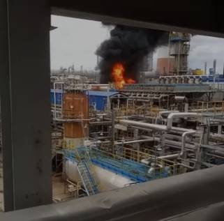 На астраханском Газпроме случился пожар