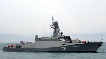 На Астрахань пошли ракетные корабли