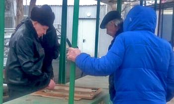 Астраханцы готовы играть в нарды даже на морозе