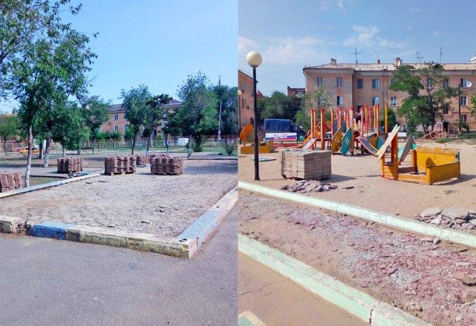 В Астрахани ремонтируют парк «Дружба» в Жилгородке