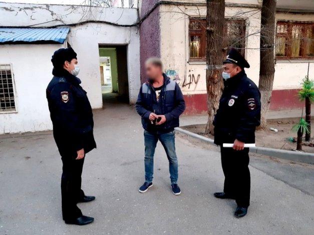 Астраханские полицейские контролируют соблюдение карантина
