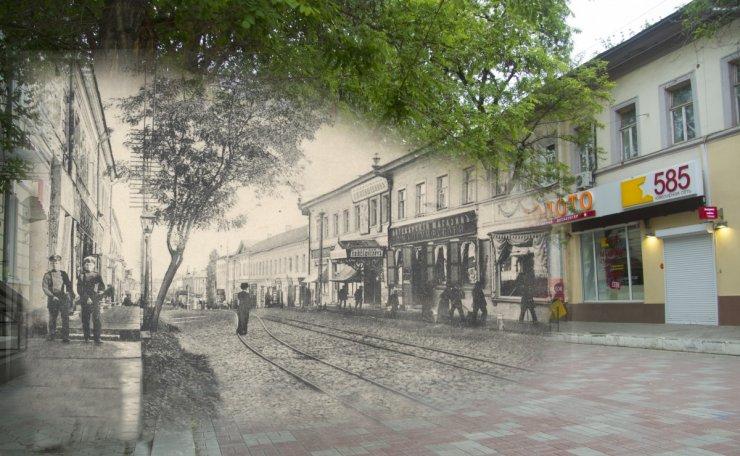 Вчера и сегодня улицы Кирова в Астрахани