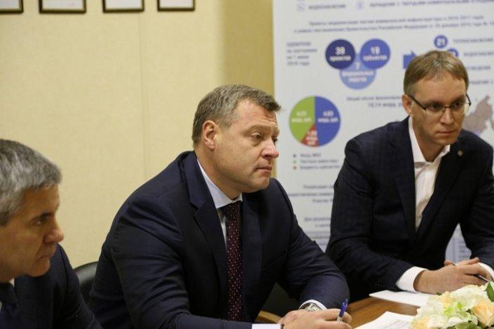 Астраханский губернатор договорился с главой Главгосэкспертизы о реализации нацпроектов