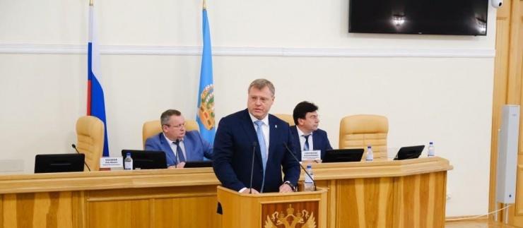 Игорь Бабушкин посетил первое заседание астраханской облдумы 7 созыва