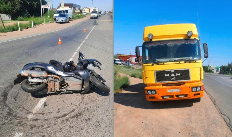 50-летний водитель мотороллера скончался после ДТП под Астраханью
