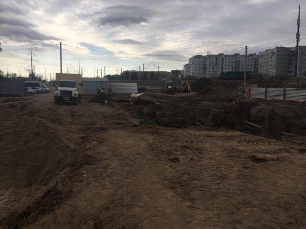В Астрахани повреждён газопровод при строительстве дороги