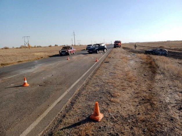 Пенсионерка погибла в ДТП на трассе между Астраханью и Волгоградом