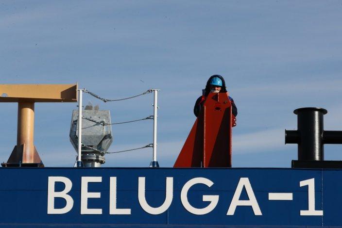 В Красных Баррикадах спущен на воду грузовой несамоходный понтон «Белуга-1»