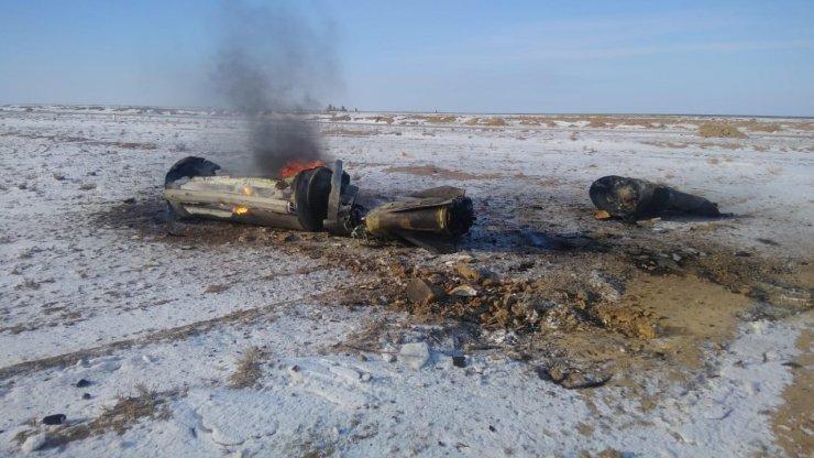 В Казахстане рухнули обломки запущенной из Астрахани ракеты