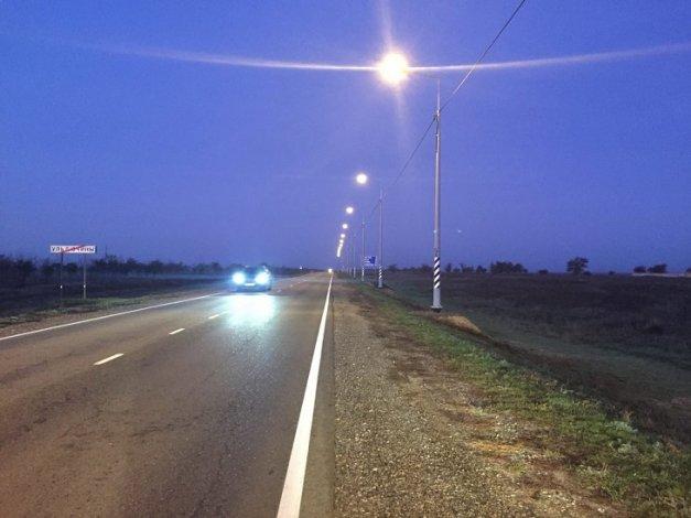 Трассе Астрахань-Элиста-Ставрополь добавили освещения