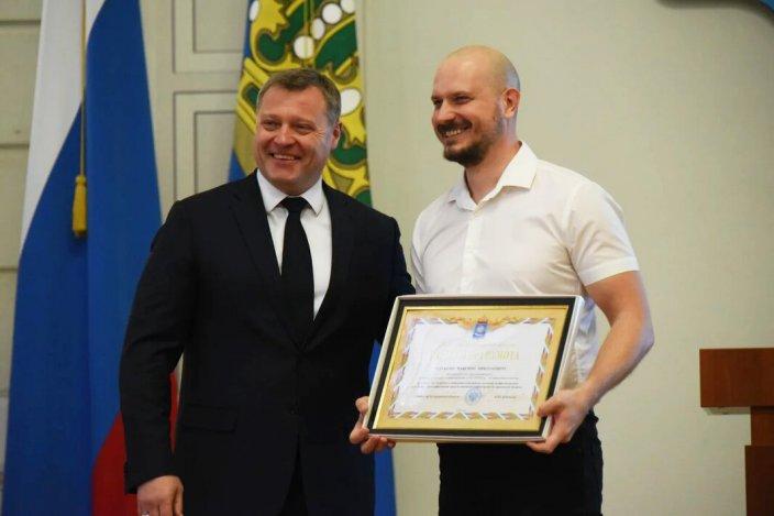 Игорь Бабушкин чествовал астраханских журналистов в администрации губернатора