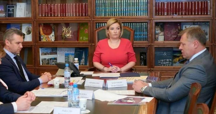 Астраханский губернатор встретился с министром культуры России