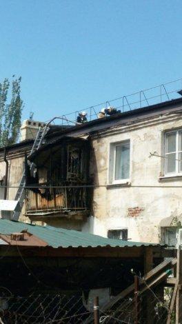 Астраханка пострадала во время пожара на балконе