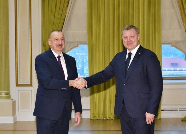 Астраханский губернатор и президент Азербайджана провели рабочую встречу