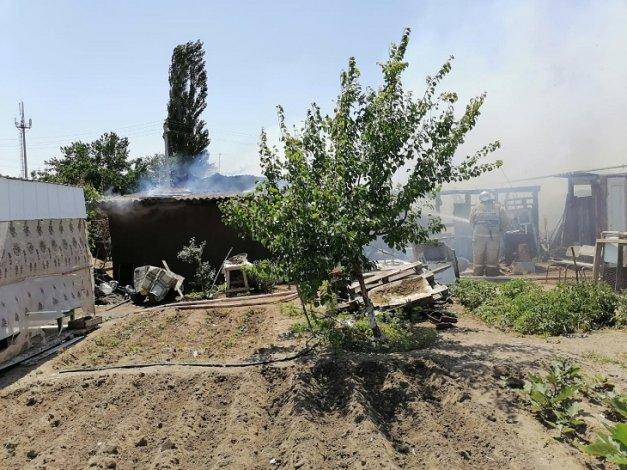 На пожаре под Астраханью погиб пивший мужчина