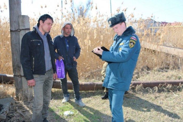 В Астрахани задержаны поджигатели камыша