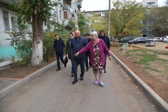 Радик Харисов проинспектировал Советский район Астрахани