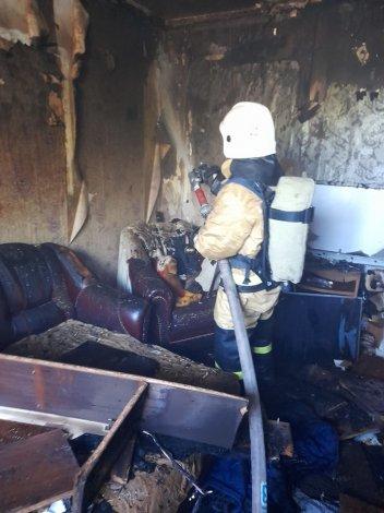 Под Астраханью на пожаре погиб молодой мужчина