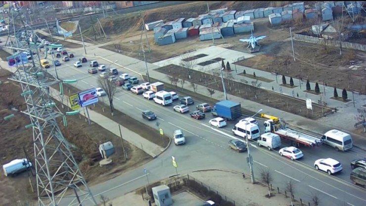 На юге Астрахани транспортный коллапс