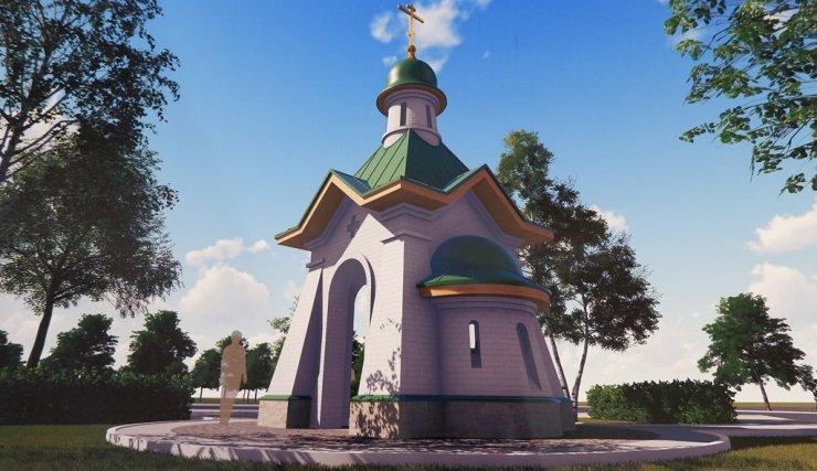 В центре транспортного кольца на площади Октябрьская появится сквер с православной часовней