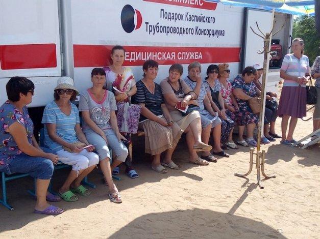 Поезд здоровья двигается по Енотаевскому району