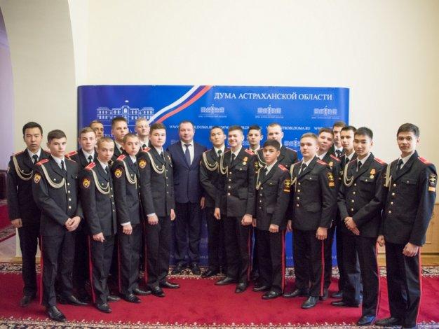 Суворовцы встретились с вице-спикером облдумы Алексеем Выборновым