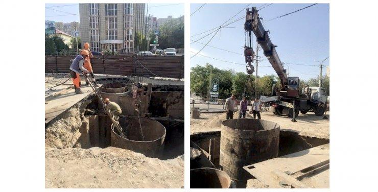 Сроки окончания работ на месте провала в Астрахани неизвестны