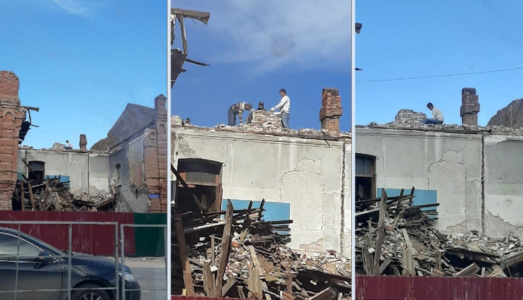 Разбор рухнувшего здания в Астрахани вызвал вопросы