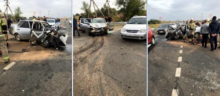 Под Астраханью – тройное ДТП: 1 погиб и 5 в больнице