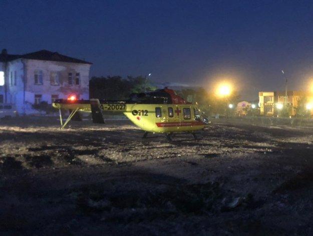 Впервые вертолет санавиации приземлился на территории больницы Кирова в Астрахани