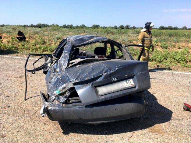 Женщина погибла в ДТП под Астраханью