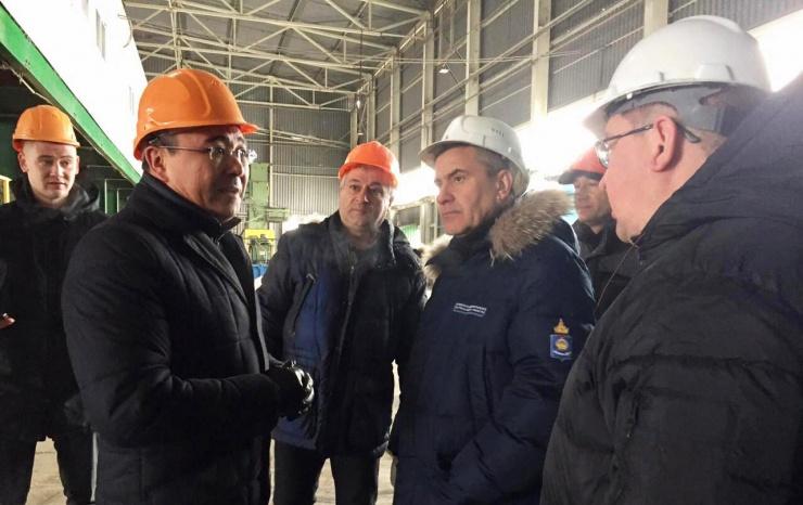 Астраханский мусоросортировочный комплекс посетил заместитель председателя правительства региона