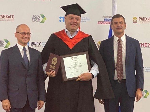 Астраханский губернатор вновь стал выпускником