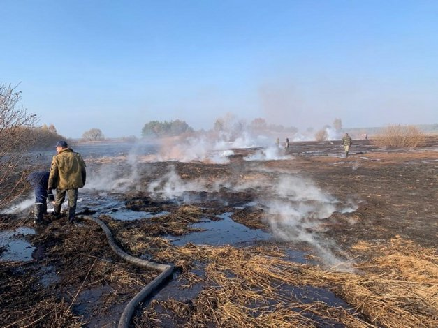 Астраханцы ощутили запах горящих торфяников