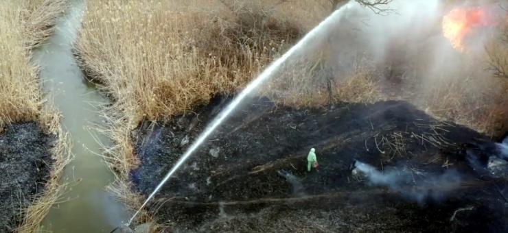Высокий риск природных пожаров объявлен в Астраханской области