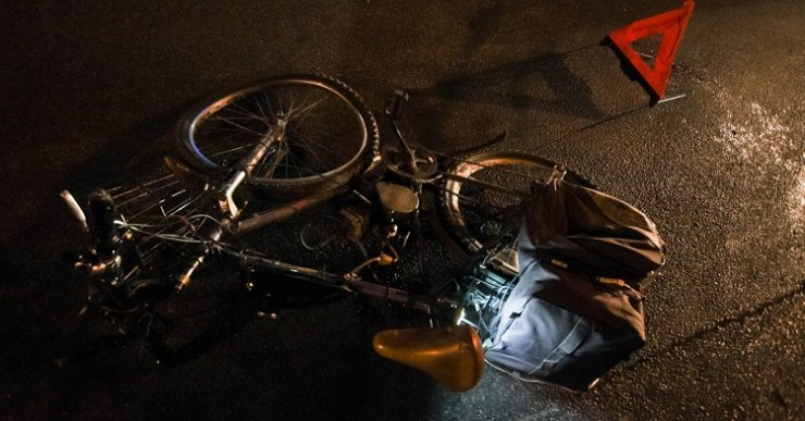 Под Астраханью задавили велосипедиста