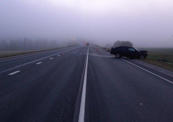 Под Астраханью туман стал причиной автомобильной аварии